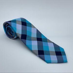 Tommy Hilfiger Buffalo Tartan Silk Neck Tie